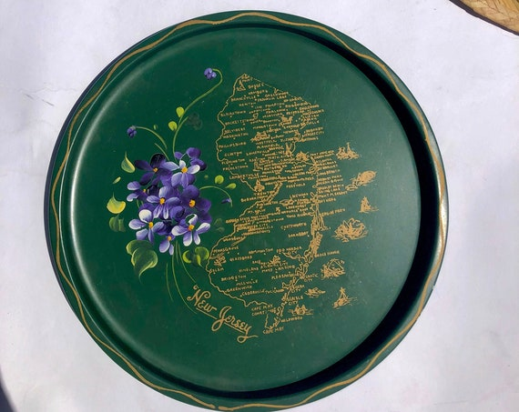 60s Decorative Tin Plate• New Jersey •