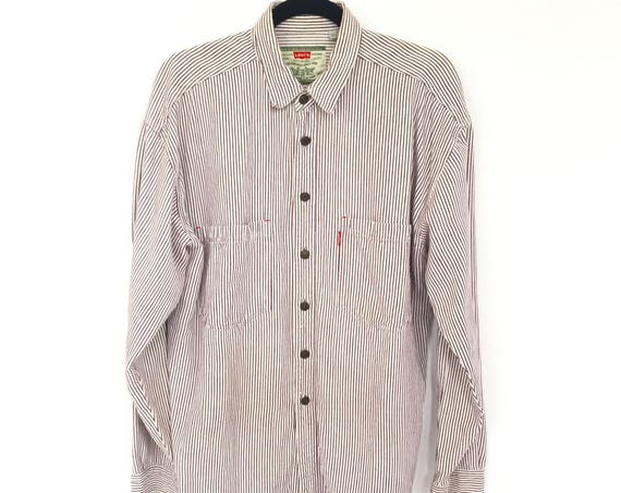 90s Levi's Pinstripe Button Up