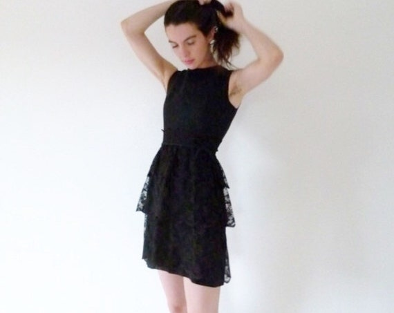 60s Pretty In Ink Mini Lace dress