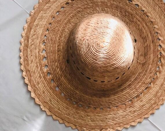 70s Straw Sun Hat
