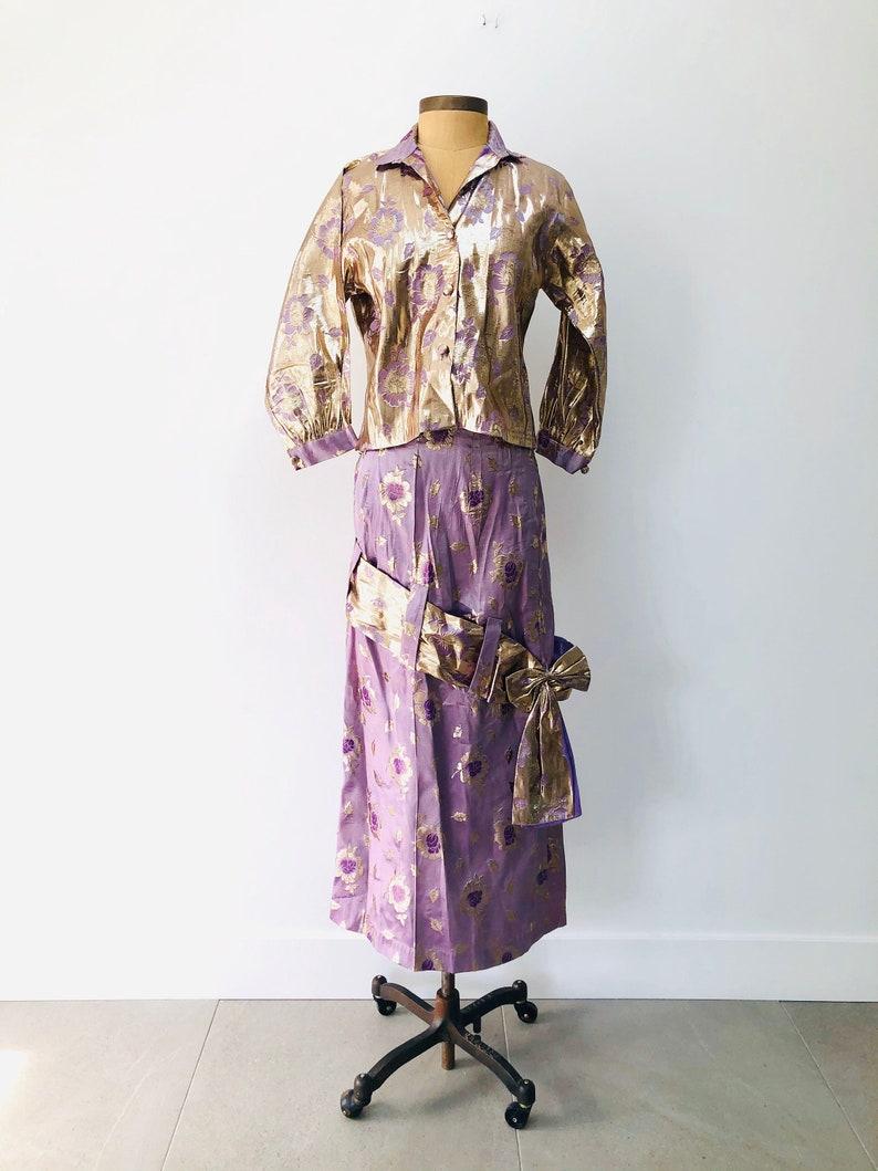 60s Lavender Metallic Suit