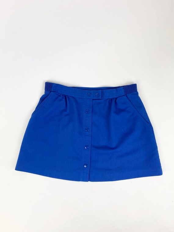 80s buttoned mini skirt•4/6•
