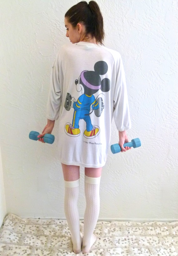 80s Lets Get Physical Mickey Mouse Sweater
