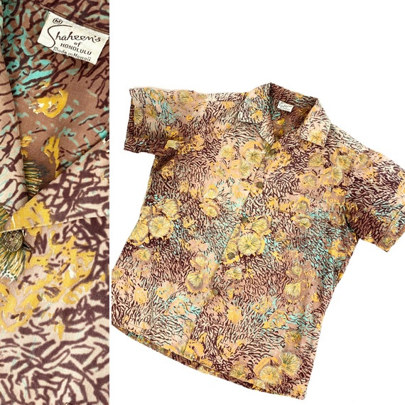 1950s Alfred Shaheen shirt •small• - image 1