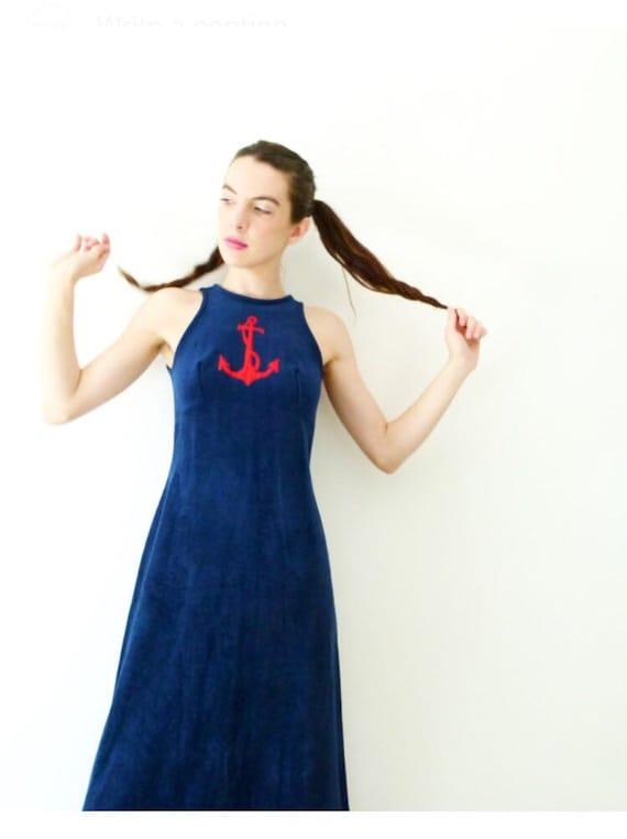 60s Sailor Girl Open Back Dress