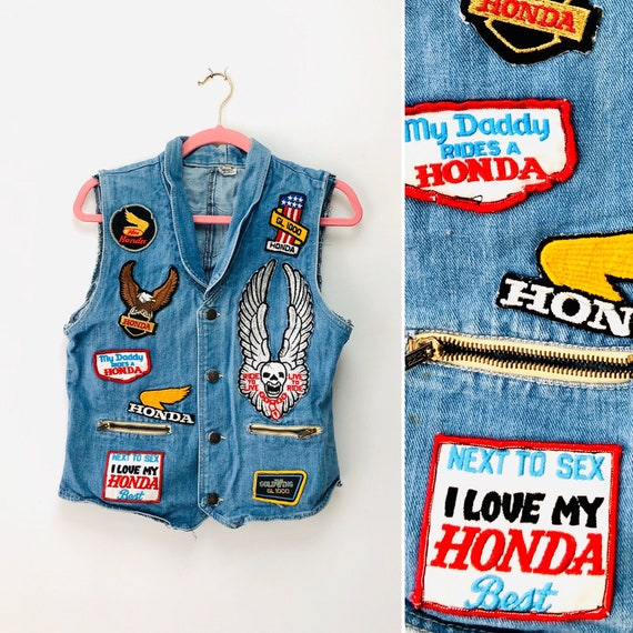 80s Honda GoldWing 1000 Denim Vest • medium•