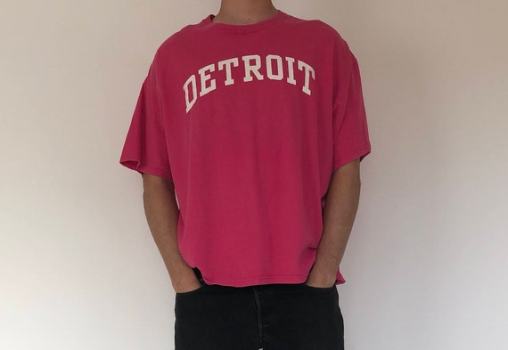 Pink Detroit Tee
