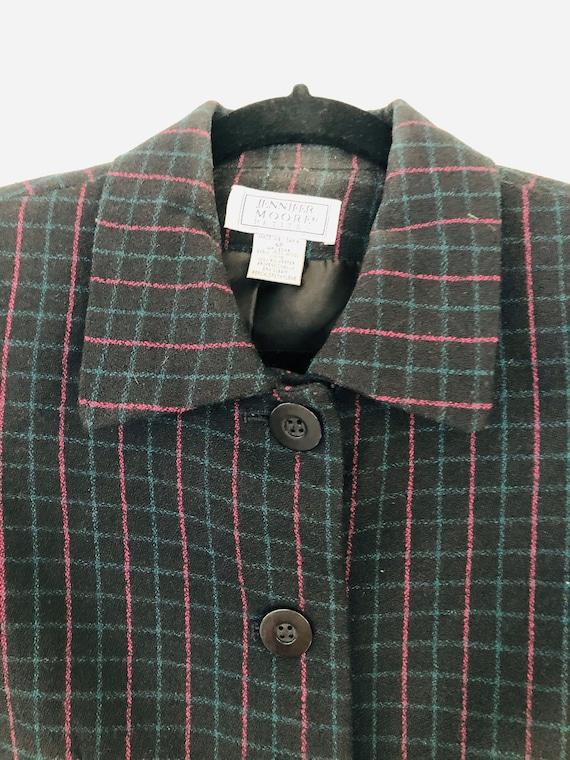 90s Wool Plaid Pant Suit • SIze 4 Petite• - image 3
