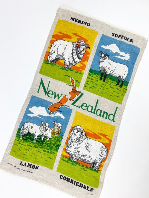 70's New Zealand flax Linen Tapestry