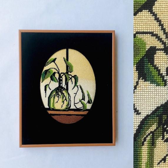 60s Velvet Botany Needlepoint