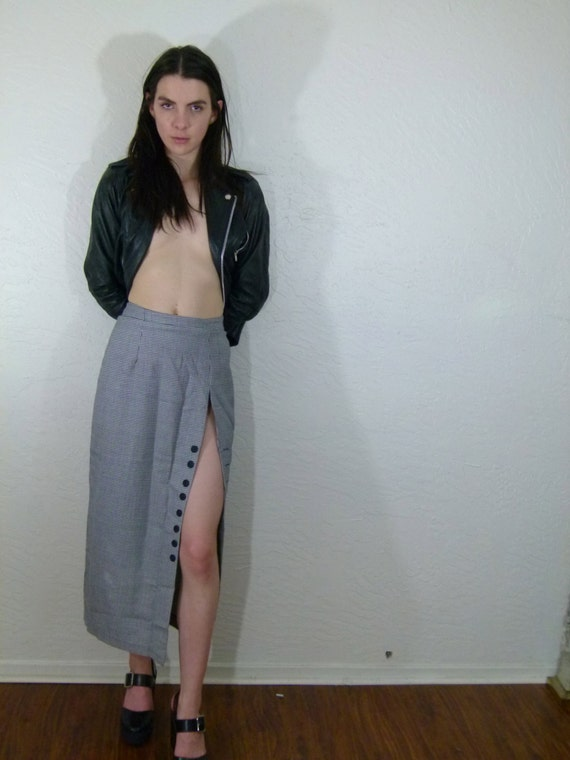 1950s Secretary Skirt W// High Slit