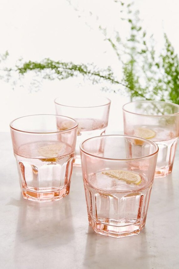 Pink Juice Glasses Lowboy (3)