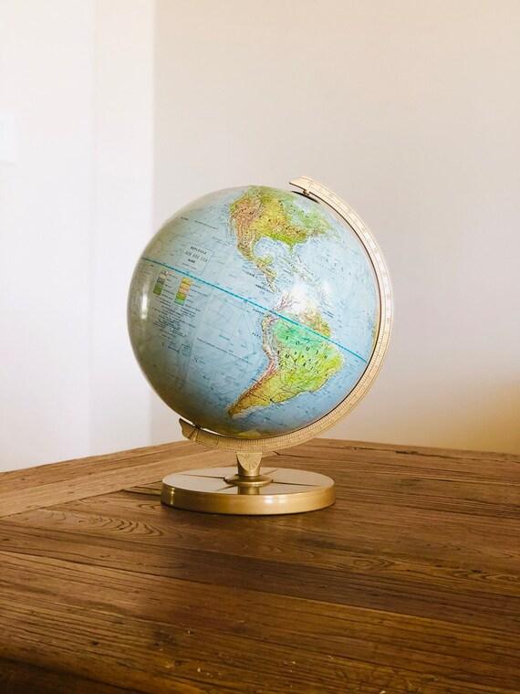 60s Replogle Land & Sea Globe 12 in
