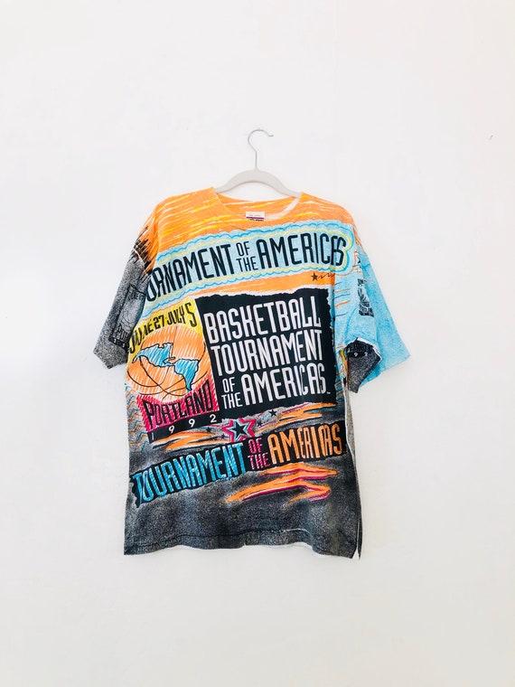 92' Magic Johnson TShirt •Tournament Of The Americas • XL •RARE