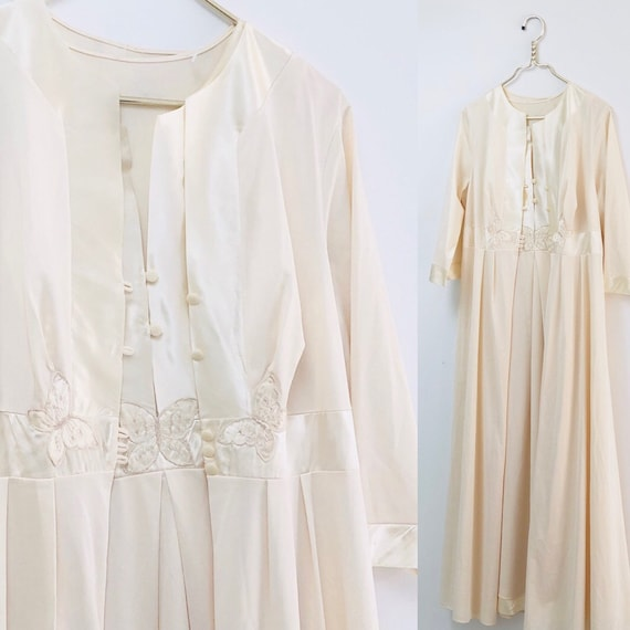 70s Peignoir Butterfly Nightgown Set