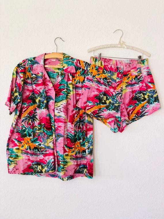 70s Hawaiian Two Piece