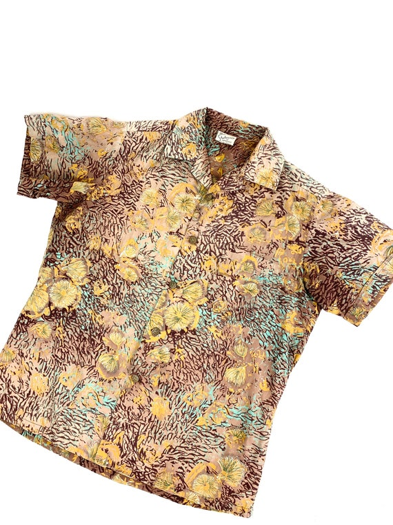 1950s Alfred Shaheen shirt •small• - image 9