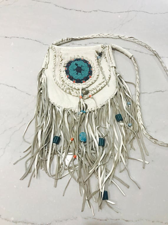 70s Elk Native American Bag- Handmade