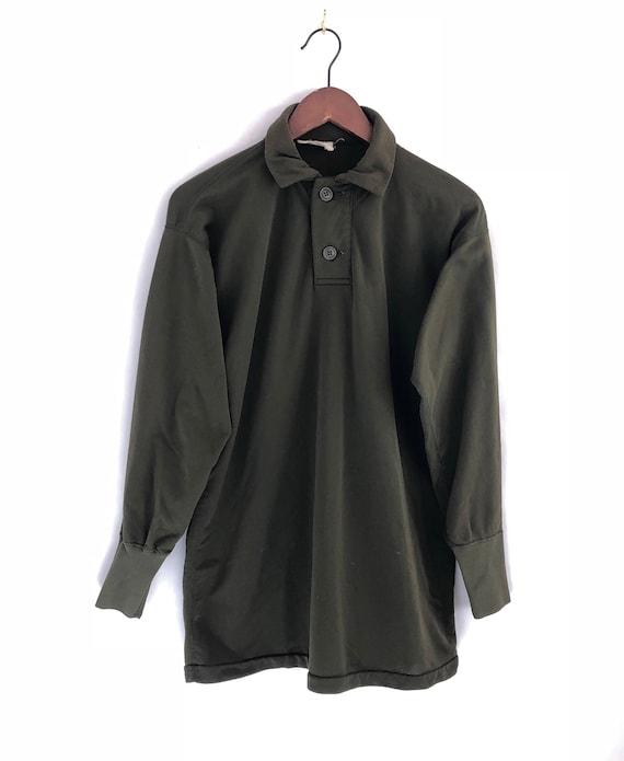 80s Military Longsleeve Shirt ~ Mens Small