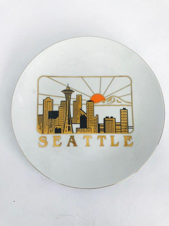 70s Decorative Seattle Plate