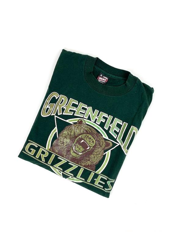 90s greenfield grizzlies tshirt •xl•