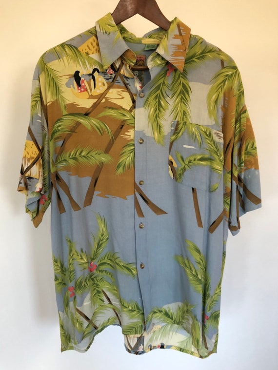 Hawaiian Shirt ~ Rayon ~ Large