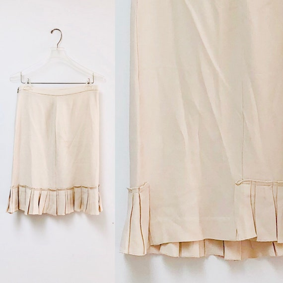 90s Valentino Pleated Skirt