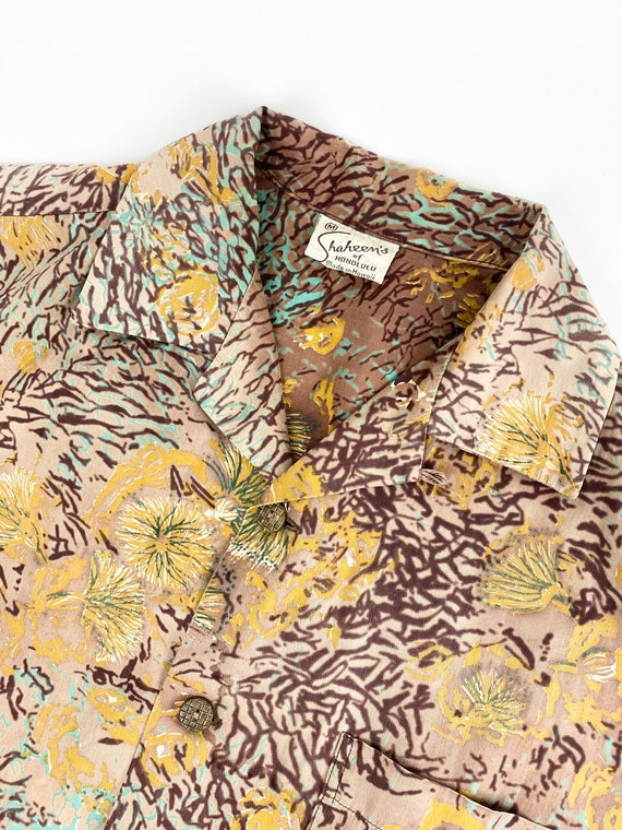 1950s Alfred Shaheen shirt •small• - image 4