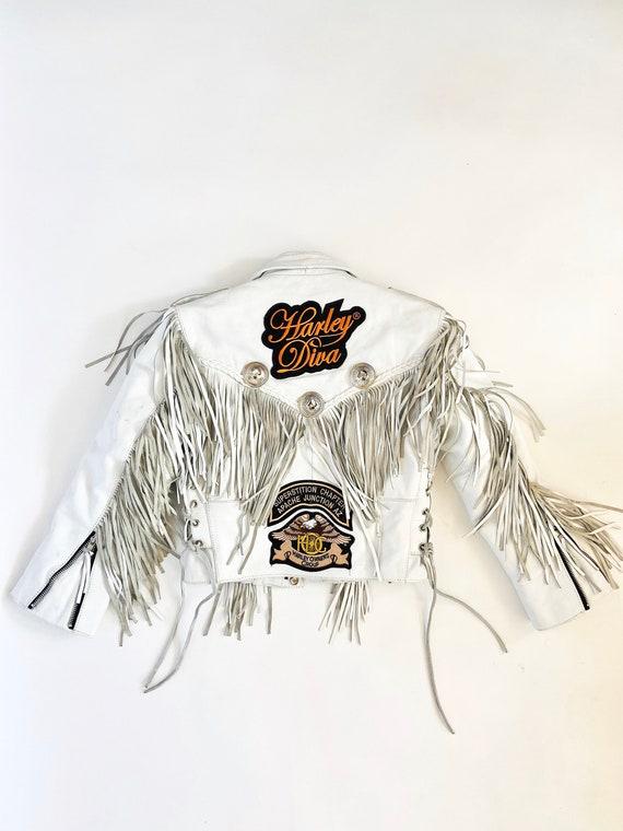 90s Children's  Leather Moto Jacket • sIze 8• Harley Davidson • Arizona Chapter