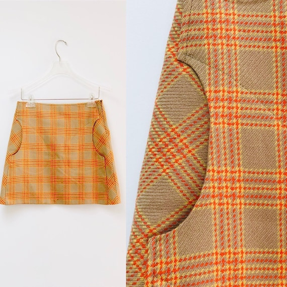 90s Toapy Paris Plaid Skirt •28'•