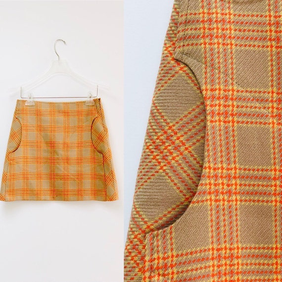 90s Toapy Paris Plaid Skirt