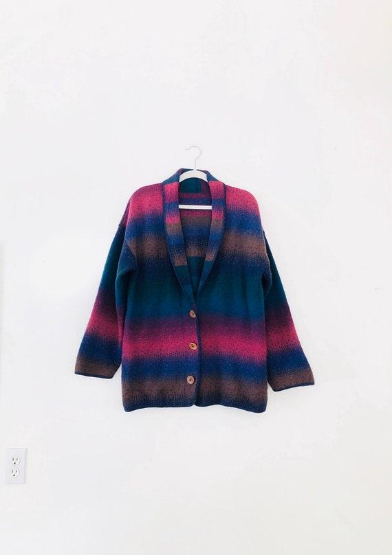 90s Southwest Knit Jacket • medium•