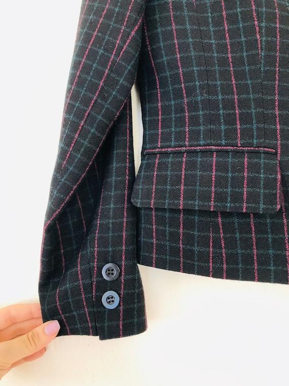 90s Wool Plaid Pant Suit • SIze 4 Petite• - image 4
