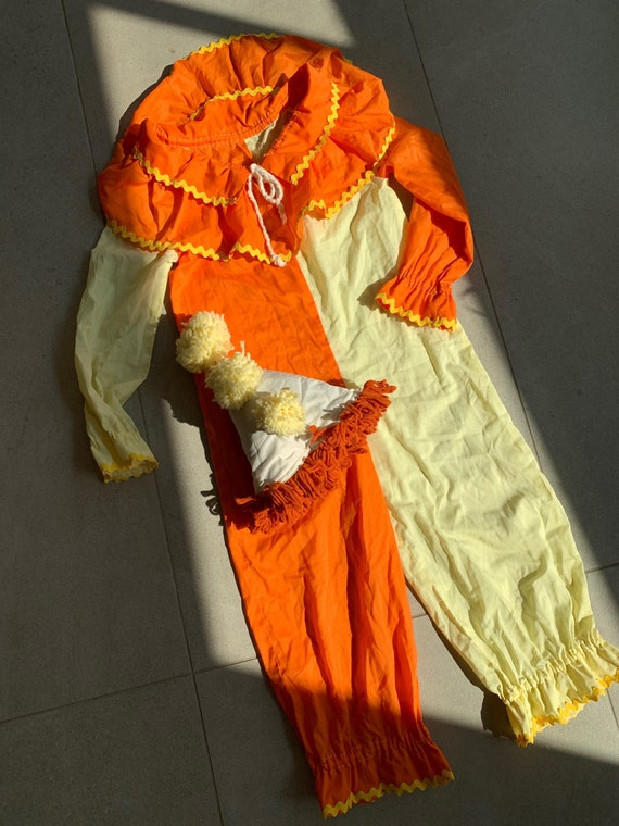 60s clown costume • hat included•xs
