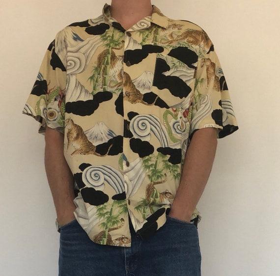 Bullhead Hawaiian tiger shirt ~ XL