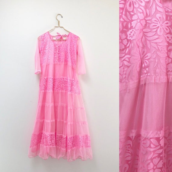 70s Full Skirt Dress