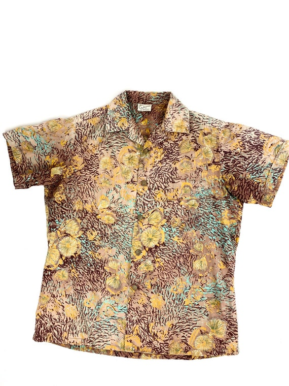 1950s Alfred Shaheen shirt •small• - image 3
