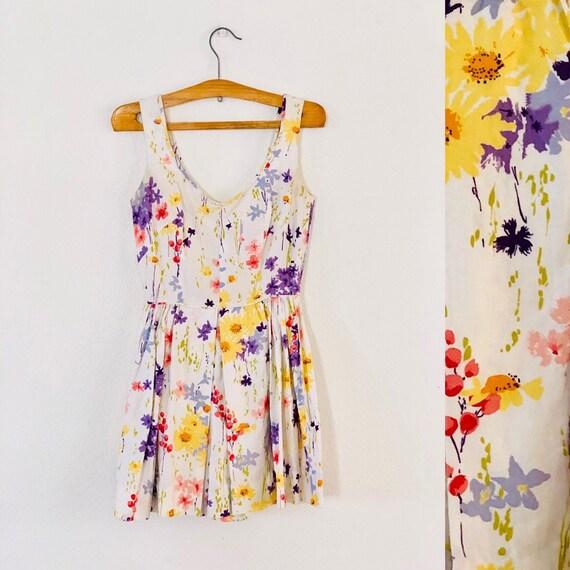60s Little Floral Romper XS