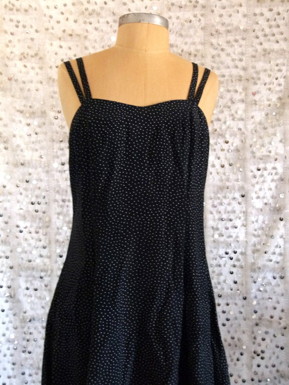 90s I've Dot To Be Skating Polka Dot Skater Dress; Grunge Dress; S/M/L, Little Black Dress, Polka Dot Print, All That Jazzsqra