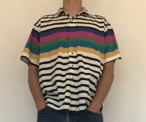 Alexander Julian Colours Collared Shirt ~ xl