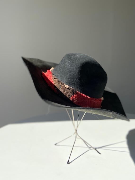 70s wide brim wool hat - image 3