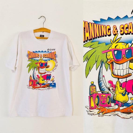 80s Tanning & Scanning Arizona Lake Tshirt XL