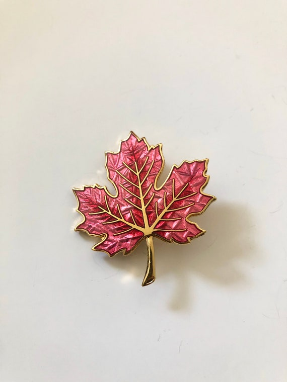 80s Autumn Leaf Brooch