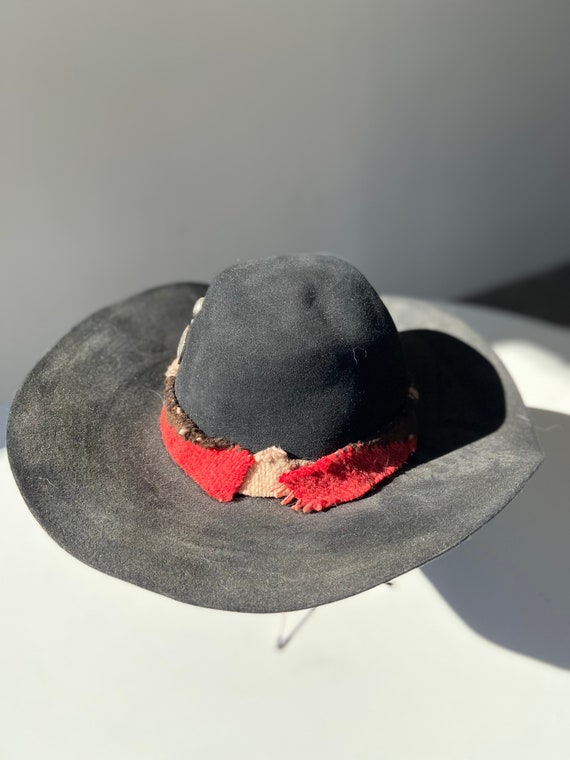 70s wide brim wool hat - image 2