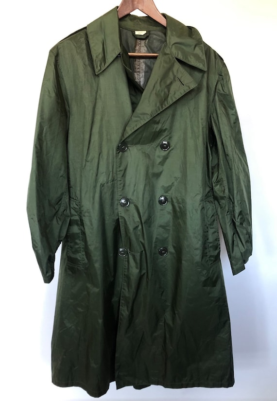 Military Raincoat ~ size 36