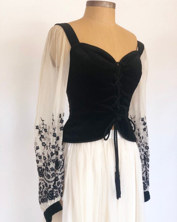 60s Gothic Peasant Two Piece