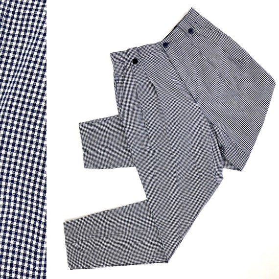 90s gingham picnic pants•27•
