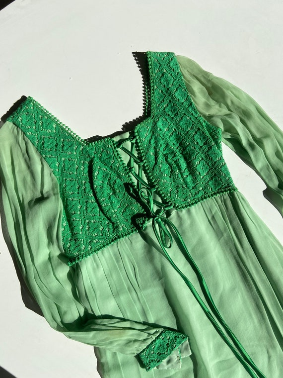 70s fairy prairie dress • small•