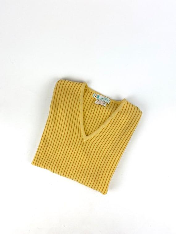 70s striped sweater •medium•
