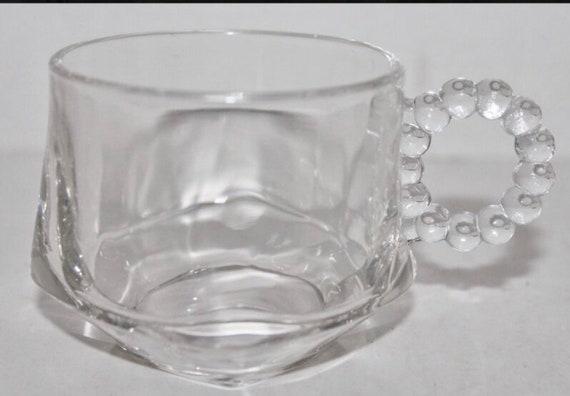 50s Orchard Crystal Hazel Atlas Teacup